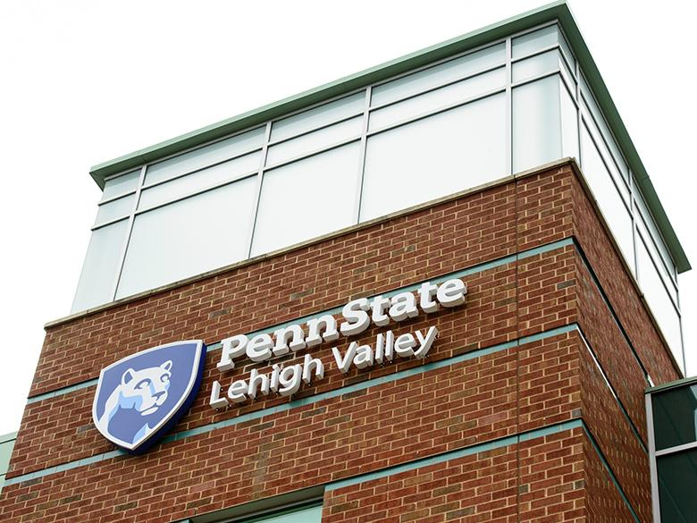 front of the penn state lehigh valley building