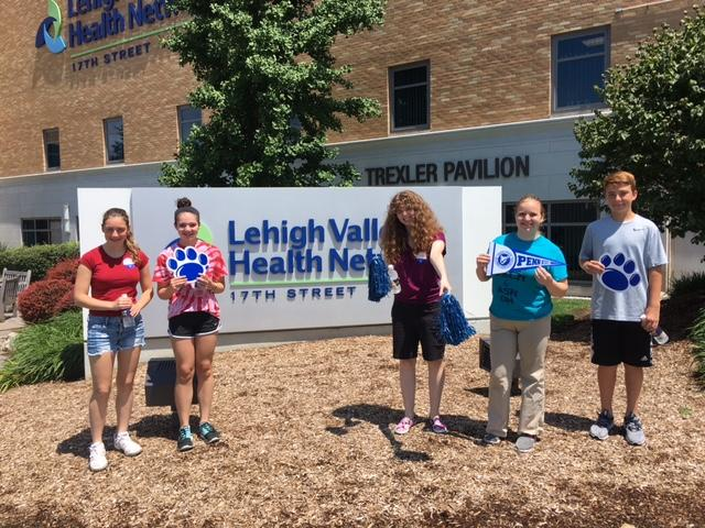 Campers out of Lehigh Valley Health Network building