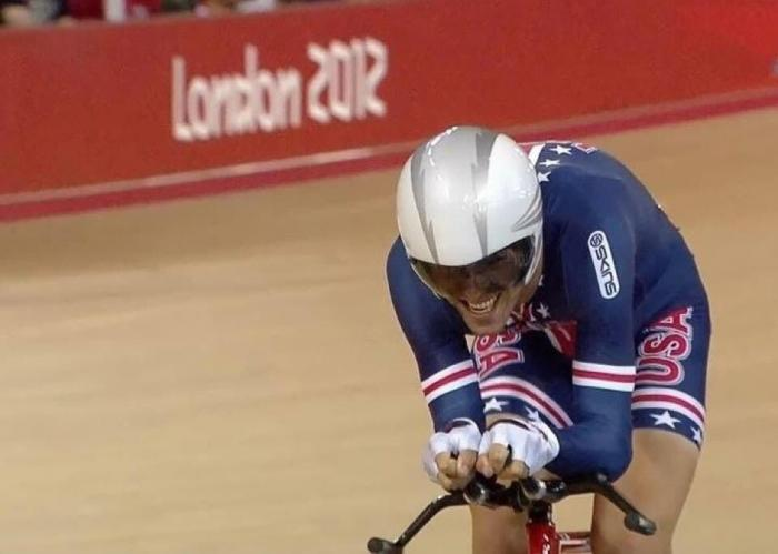 cyclist competing in london games