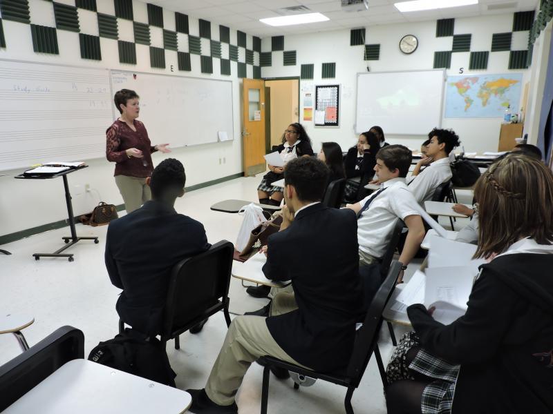 Sandy Kile teaching