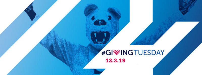 graphic with nittany lion and language about giving tuesday