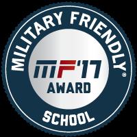 Military Friendly '17 badge