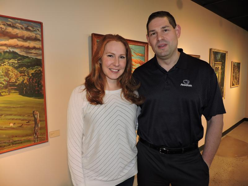 Katelyn and Shane in art gallery