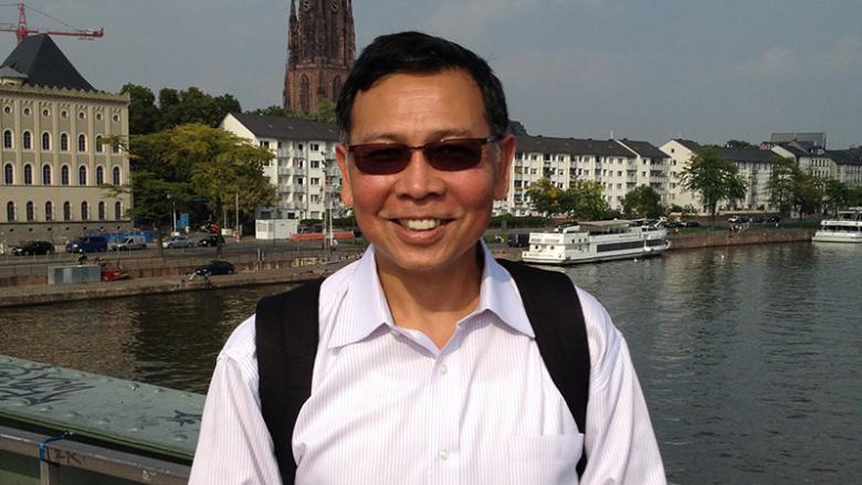 Maung Min on a business trip