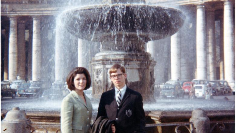 Ann Marie and Kenneth in Vatican Square