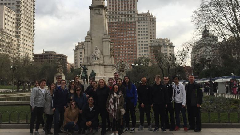 Group of students in Madrid