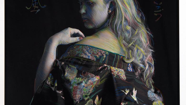 woman posing with a kimono