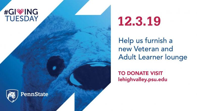 #GivingTuesday 12.3.19 | Veteran and Adult Learner lounge