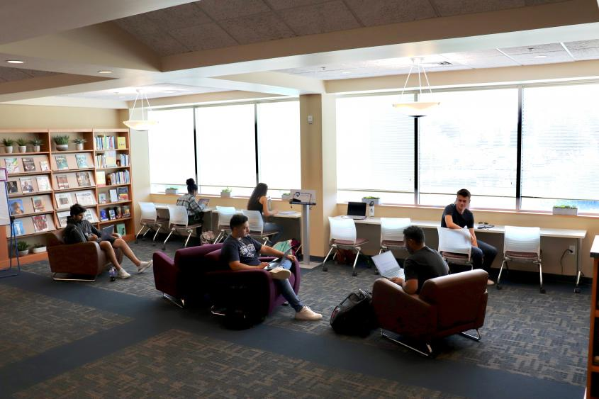 New Quiet Study Space In Library Created With Giving Tuesday Funds